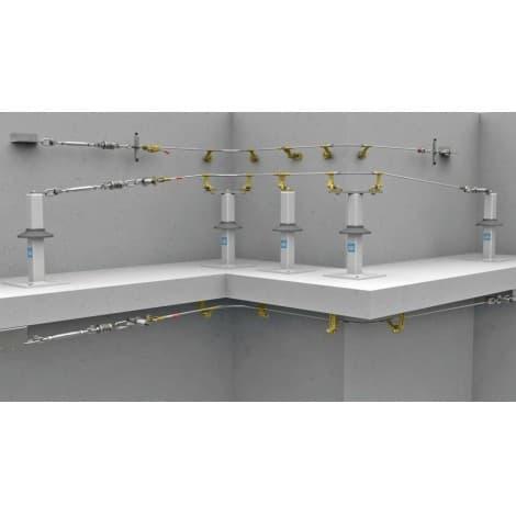 Tractel Travsmart Permanent single-cable horizontal lifeline system