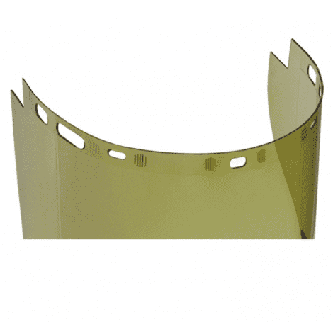 DeltaPlus 101309 Safety Face Shield Arc Shield with Chin Guard
