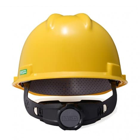 MSA V-Gard Slotted Hard Hat, with 4-point Fas-Trac III Suspension