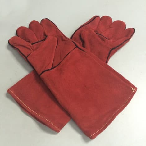 Yangyue Red Cow Split Leather Welding Gloves