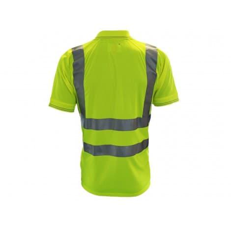 Bodyguard workwear  GN650Y High Vis Short Sleeve  Polo Shirt Mobile Phone Pocket