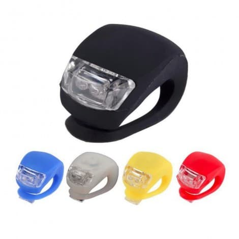 Silicon Led Bicycle Cycling Flash Warning Light Led Front Light