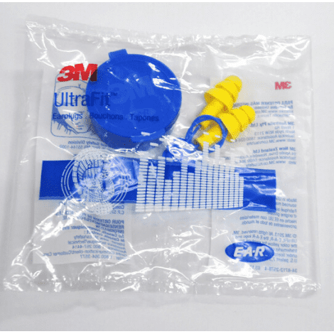 3M E-A-R UltraFit Corded Earplugs 340-4002 with carrying case