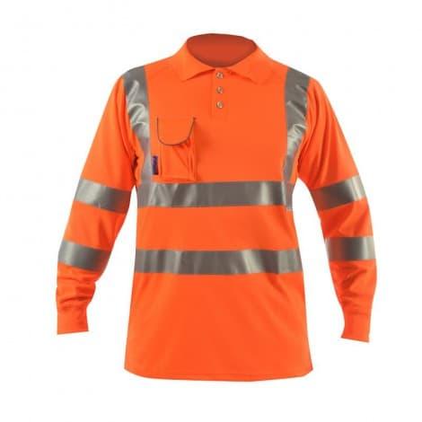 Bodyguard workwear Long Sleeve Polo Shirt w/ Soft Under Arm Ventilation & Soft Ribbed Cuff