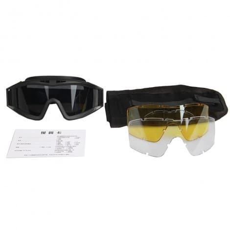 High Strength Polycarbonate Nylon Frame Military Tactical Glasses Ballistic Goggle