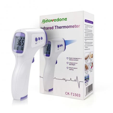 non contact body temperature forehead digital infrared thermometer