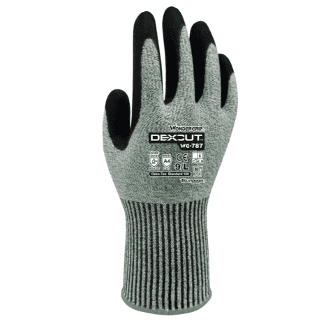 Wonder Grip WG-787 Dexcut Cut Resistance Work Safety Gloves