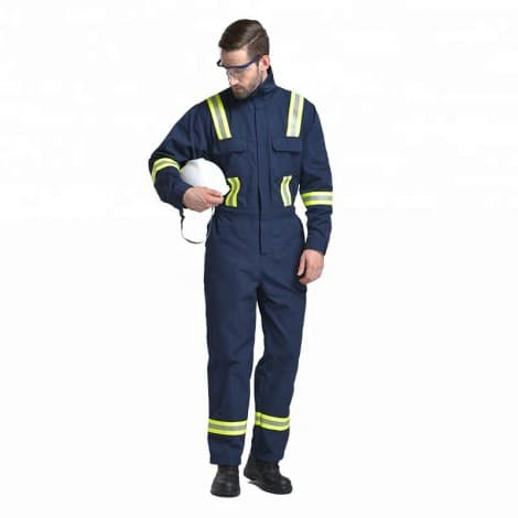 fire-resistant protection coverall Fire Retardant Coverall Work Wear Safety Clothing Reflective Coverall