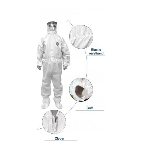 CE certified Type 5 Type 6 Disposable Hooded coverall